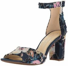 Jessica Simpson Womens Sherron Leather Open Toe Casual Ankle Strap Sandals