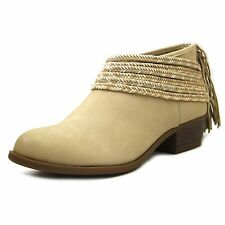 BCBGeneration Craftee Women Round Toe Leather Tan Bootie