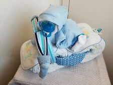 Biker Baby Motorcycle Diaper Cake Baby Shower Centerpiece Gift Set Girl Boy