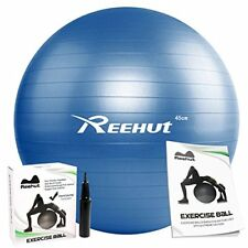 Anti-Burst Core Exercise Ball with Pump for Yoga Balance Fitness Pilates Workout