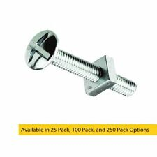 M6 x 40mm Bright Zinc Plated Roofing Bolts With Nut Ideal For Guttering Trunking
