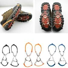 6 Teeth Ice Snow Climbing Boots Shoes Covers Spike Cleats Crampons Grippers