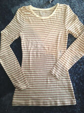 Old Navy Girls Brown Striped TShirt Full sleeves Crew Size XS, M, L 60% Cotton