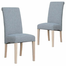 NEW Set of 2 Mission Upholstered Dining Chair Temple & Webster Dining Chairs