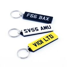Personalised Number Plate Reg Plate Acrylic Keyring - Handmade Laser Cut Gift