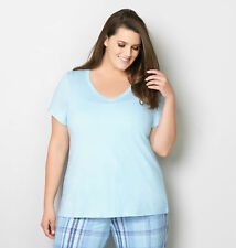 AVENUE Aqua Sleep Top Womens Plus Size