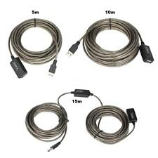 USB 2.0 Active Repeater Male to Female Extension Cable Cord up to 480MBPS O7S2