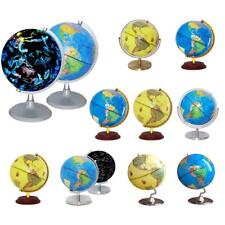 Rotating Geography Political World Map Globe Teaching Aid Table Décor Supplies