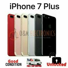 Unlocked Apple iPhone 7 Plus 32GB Black Rose Gold Silver Red AT&T T-Mobile Metro