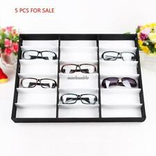 5pcs Storage Display Case Box for Eyeglass Sunglass Glasses 10/18 Compartments