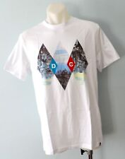 DC Shoes Mens Printed T Shirt - WHITE  - SIZE - LARGE - NEW