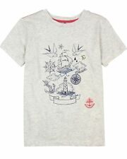 Deux par Deux Boys' Printed T-shirt in Gray Pirates in the Zone, Sizes 5-12