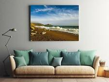 Framed Canvas Stretched Print Ocean Seascape England Waves