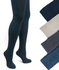 Womens Warm Soft Thick Patterned Opaque Angora Wool Tights   Winter Cold Weather