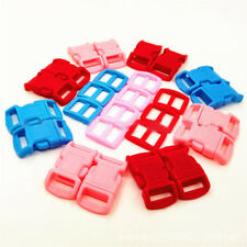 20 PCS Colorful Plastic Adjust Buckles Side Release for Bags 11mm Straps Webbing
