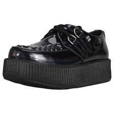 T.U.K Iridescent High Sole Creeper Womens Shoes Black Patent New Shoes