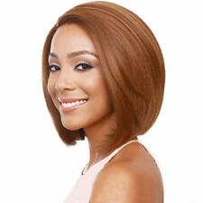 Short Blonde Wig Human Hair Virgin Brazilian Straight Front Lace Bob Wig Bur/99J