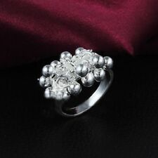 Girl Men Gift Finger Rings Charm Silver Plated Fashion Jewelry Rings Women