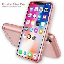 Slim Rechargeable External Battery Backup Power Bank Cover iPhone X 5200mAh Case