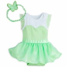 Disney Store Tinkerbell Fairy Princess Dress Baby Bodysuit Costume Wings band