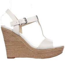 Marc Fisher Womens Harlei Leather Open Toe Casual Espadrille Sandals