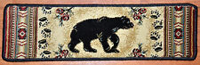 "Dean Premium Carpet Stair Treads Rugs - Black and Red Bear Cabin Lodge 31"" W"