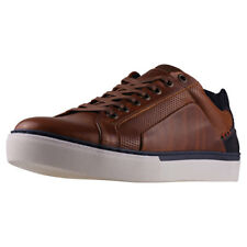 Mustang Fashion Basketball Sneaker Mens Cognac Leather Trainers