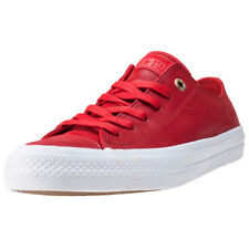 Converse Chuck Taylor All Star Ii Ox Womens Red Leather Trainers