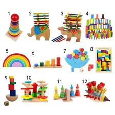 Kids Montessori Toys Wooden Puzzle/ Blocks/ Balance Game Educational Toy Gift