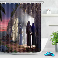 Navitity of Jesus Fabric Shower Curtain Set Polyester Liner Bathroom Accessories