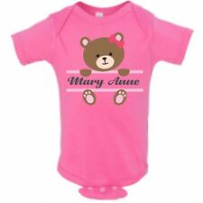 Baby Bear Face Girl Name Infant Bodysuit or T-shirt ~ Personalized
