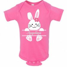 Baby Bunny Rabbit Face Girl Name Infant Bodysuit or T-shirt ~ Personalized