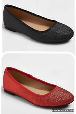 NWT Girls' Buffy Glitter Ballet Flats Black Red HYDE AND EEK BOUTIQUE 9 1 2 3