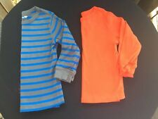 Baby Gap 4T Toddler Boys Long Sleeve Gray & Blue Striped And Orange Shirts