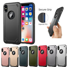 Hybrid Shockproof Rugged Armor Heavy Duty Case Cover For iPhone X 8 6 7 Plus