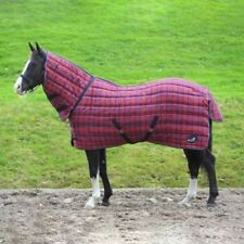MASTA STABLE RUG QUILTMASTA 350G FIXED NECK RED/NAVY CHECK
