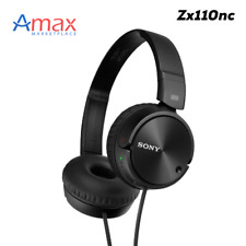 Sony Mdr-Zx110nc - Noise Canceling-On the Ear Headphones/Headset/Black