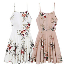 Women Summer Floral Short Dress Evening Cocktail Party Beach Dresses Sundress