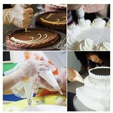 100Pcs Disposable Piping Bag & Icing Nozzle Fondant Cake Decorating Pastry A3