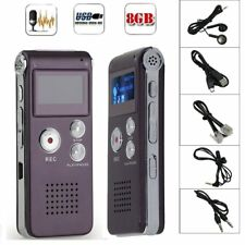 8GB Digital MP3 Player Audio Voice Recorder Rechargeable Dictaphone Telephone CO
