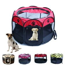 Pet Dog Cat Playpen Tent Portable Exercise Fence Kennel Cage Crate Cover Bag US
