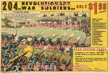 """REVOLUTIONARY WAR TOY SOLDIERS 1963 = POSTER Not Comic Book 8 SIZES 18"""" - 36"""""""
