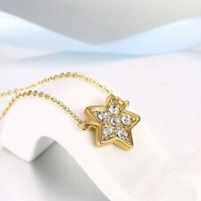 Trendy Star Shape Pendant Necklace Fashionable Jewelry Rhinestone Necklace LH