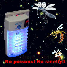 LED Socket Electric Mosquito Fly Bug Insect Trap Night Lamp Killer Zapper New AS