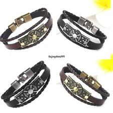 Casual Vintage Style Artificial Leather Star Pattern Layered Hasp OO55 01