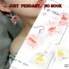 Cute Goldfish Water Bag Shape Ear Ring Dangle Hook Earrings Charm Jewel Pendent