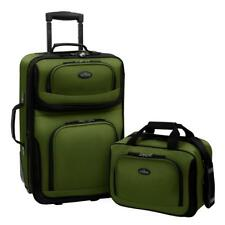 "Traveler Rio 2-Piece Carry-On Luggage Set 21"" Expandable 14"" Wheeled Carry On"