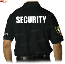 MEN'S PRINTED SECURITY POLO T-SHIRT UNIFORM EMBROIDERY BADGE POLICE STAFF PARTY