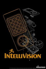 101846 Intellivision Controller Orange Video Gaming Decor WALL PRINT POSTER AU
