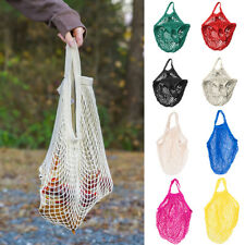 Reusable Shopping String Bag Grocery Shopper Cotton Tote Mesh Woven Net Mesh Bag